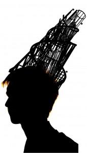 Дмитрий Беззубцев. Автор фото Евгений Беззубцев, автор «головного убора» Владимир Татлин, автор коллажа Дарья Сальникова