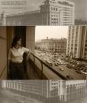 Ольга Алёшина. Портрет с видом с балкона гостиницы «Москва». Фото - Ирина Буранова, обработка - Ольга Алёшина. 2012