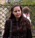Анна Федорец в Морозовском саду в Москве