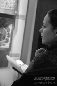 Анна Федорец в Доме иконы на Спиридоновке