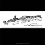 002 Крепость Нарикала в Тбилиси. 2011. Михаил Тренихин. Графическая серия «Грузинский дневник»