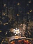 Вифлеем. Базилика Рождества Христова. Интерьер. Потолок с лампадами.