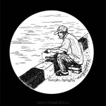 031 Батуми, рыбак в на набережной порта. 2012. Михаил Тренихин. Графическая серия «Грузинский дневник»