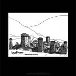 033 Сванские башни. 2012. Михаил Тренихин. Графическая серия «Грузинский дневник»