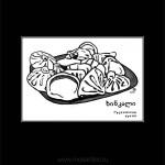 038 Хинкали. Блюдо грузинской кухни. 2012. Михаил Тренихин. Графическая серия «Грузинский дневник»