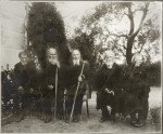 Участники войны 1812 года на Бородинском поле 25 августа 1912 года. Фото. 1912 г.