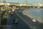 Jacques Dupaquier. Вид на набережную Москва-реки с Большого Москворецкого моста. 1964