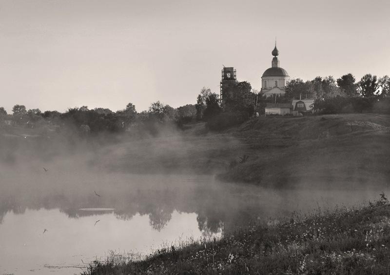 Утро туманное утро седое храм