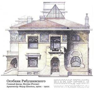 Особняк Рябушинского, главный фасад