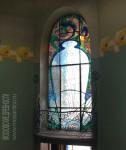 Особняк Рябушинского, внутренний балкончик и окно с витражом