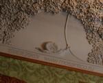Особняк Рябушинского, библиотека, лепной плафон, фрагмент с улиткой и цветами