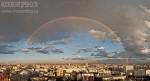 Двойная радуга над Москвой. Автор: Евгений Беззубцев