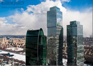 Москва-сити, февраль 2011. Автор Евгений Беззубцев