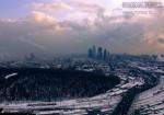 Погодные катаклизмы над Москва-Сити. Вид с ЖК «Дом на Беговой». Март 2010. Автор: Дмитрий Беззубцев