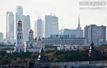 Вид на Кремль и комплекс «Москва-сити». Автор: Евгений Беззубцев