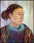 Елизавета Трофимова  Портрет Марины Фёдоровой. Холст, масло. 40x50. 2008