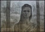 Елизавета Трофимова. Автопортрет. Бумага, уголь, белила, пастель. 84х59,4. 2011