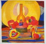 Елизавета Трофимова.  Натюрморт с лампой. Литография.35x38. 2008