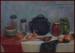 Елизавета Трофимова. Натюрморт с чугуном. Холст, масло. 50x70. 2008