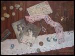Елизавета Трофимова. Обманка «Осталась память». Картон, масло. 50x35. 2008