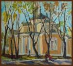 Елизавета Трофимова. Весна в Люблино. Холст, масло. 45x50. 2009