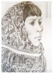 Елизавета Трофимова. Женя. Бумага, картон. 59,4х42.  2009