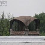 Навершие вентиляционной шахты на крыше Новоткацкой фабрики в Ногинске