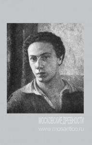 А.И. Ржезников. Автопортрет. 1926 (?). Холст, масло. Местонахождение неизвестно