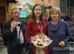 Анна Федорец с родителями