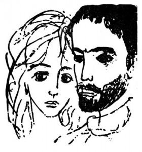 Иллюстрация Надежды Рушевой к роману «Мастер и Маргарита»