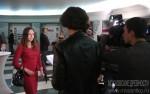 Репортёры телеканала Культура берут у Анны Федорец интервью