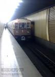 Ретропоезд «Сокольники» заезжает в тоннель станции Улица Подбельского