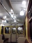 Ретропоезд «Сокольники». Интерьер вагона, потолок