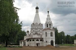 Церковь Богоявления, построенная в 1592 году в годуновском имении Красное-на-Волге под Костромой