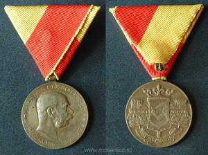 Австро-Венгрия. Боснийско-Герцеговинская памятная медаль. 1908 год