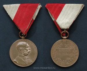Австро-Венгрия. Медаль «В память 50-летия правления Франца-Иосифа» на ленте для награждения гражданских лиц. 1898 год