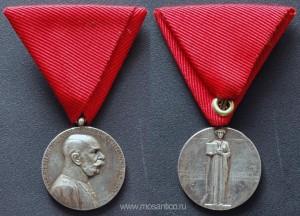 Австро-Венгрия. Юбилейный серебряный жетон, посвящённый 50-летней годовщине получения протестантского патента. 1911 год
