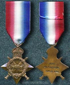 Британская Империя. Медаль «Звезда 1914-15»