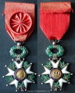 Третья Французская республика (1870 - 1940). Знак ордена Почётного легиона в звании Офицера (Officier).