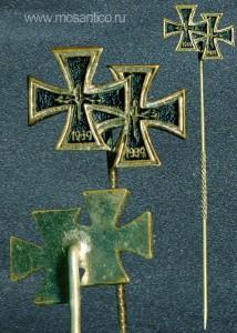 Фрачный знак с двумя наградами:  Железный Крест 1-го класса и Железный Крест 2-го класса образца 1957 года
