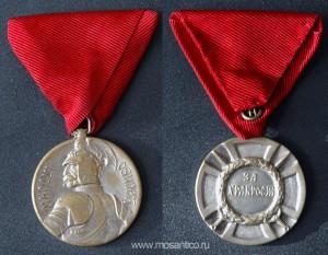 Королевство Сербия. «Серебряная» медаль Милоша Обилича «За Храбрость»