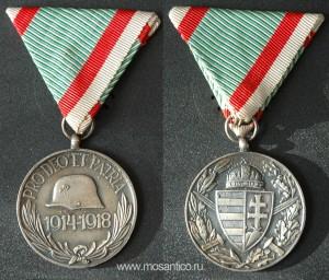 Королевство Венгрия. Памятная медаль ветерана ПМВ (для комбатантов)