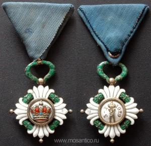 Королевство Югославия. Знак ордена Югославской короны V степени (серб. Орден Југословенске Круне). 1930-1941