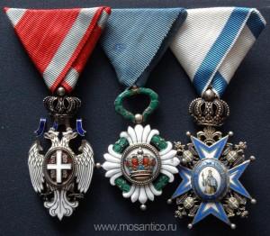 Королевство Югославия. Ордена Белого орла, Югославской короны, Святого Саввы