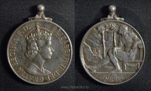Медаль «Имперской службы» (Imperial Service Medal). Эмиссия Елизаветы II (с 1952)