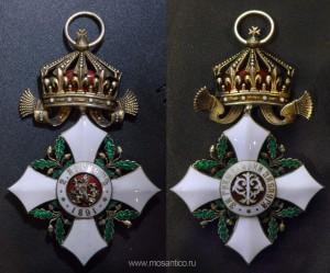 Третье Болгарское царство. Знак ордена «За гражданские заслуги» IV степени (болг. Орденъ «За гражданска заслуга. IV Степен») с короной
