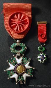 Третья Французская республика (1870 - 1940). Знак ордена Почётного легиона (офицер) с миниатюрой