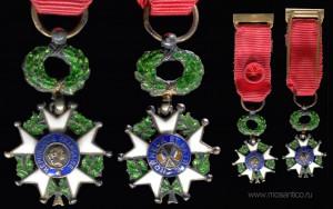 Третья французская республика (1870-1940). Миниатюра знака ордена Почётного легиона (офицер)