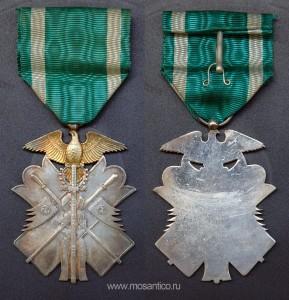 Японская империя. Знак ордена Золотого коршуна VII степени. Вторая Мировая война (тип 1938—1945)