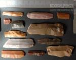 Каменные орудия труда (кремень). Ножевидные пластины. Неолит (V-III тыс. до н.э.). Сергиево-Посадский район, Московская область